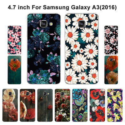 Soft TPU Silicone Case For Samsung Galaxy A3 2016 SM-A310F Back Cover Floral