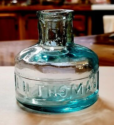 L.H. THOMAS   Ink Bottle   1870's   @SPARKLING@