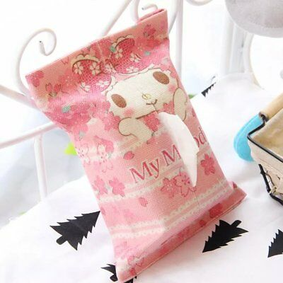 My melody cotton linen tissue box holder cover Tissue Box Covers anime gift new