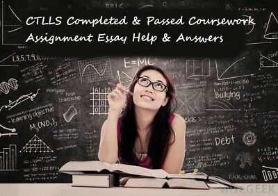 CTLLS Completed & Passed Coursework Assignment Essay Help & Answers