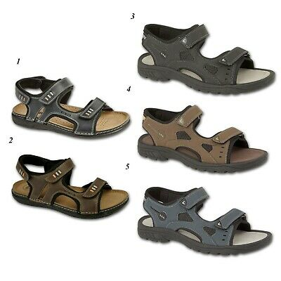 Mens Faux Leather Sandals Walking Hiking Sandals Beach Shoes Size 7 8 9 10 11 12