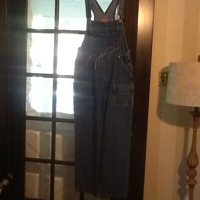 ORIGINAL THREADS women's  Vintage denim bib overalls M