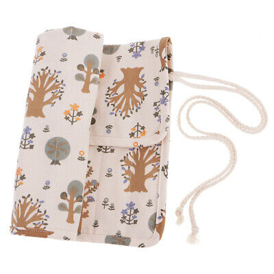 Artist Painting Paint Brushes Storage Case Roll Up Pen Holder Canvas Bag