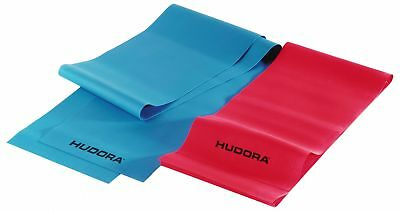 Hudora Fitness-Band Set 2 Stck - Gymnastik-Band Elastisch - 64148