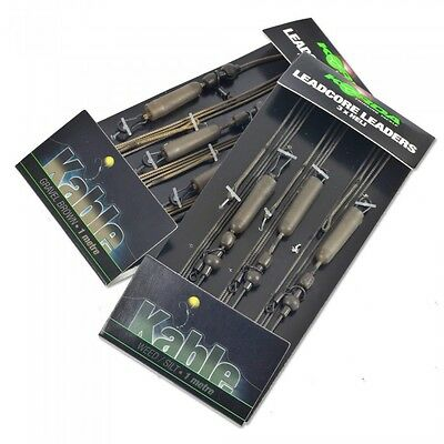 Korda Carp Fishing Ready Tied Helicopter & Chod Leadcore Leaders - All Colours