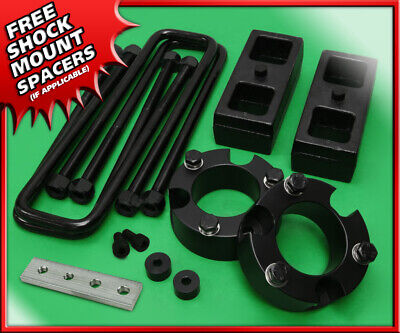 "For 99-06 Toyota Tundra 2WD 4WD Full 3/"" F 3/"" R Leveling Lift Kit Black Billet"