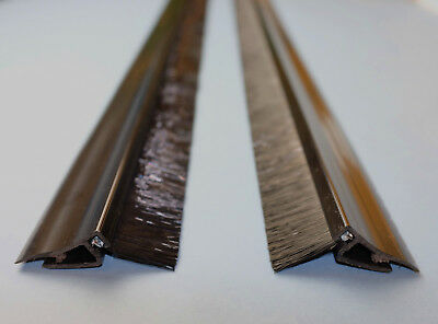 Pair of 3 metre long guide seal lengths for roller shutter doors FREE DELIVERY