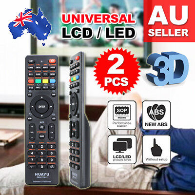 2X Universal LCD/LED/3D TV Remote For Samsung/Panasonic/TCL/TOSHIBA/PHILIPS/JVC