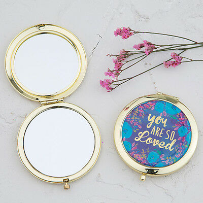 """Natural Life """"you ARE SO Loved """" Boho Style-6.3cm (2.5in) diam. Compact Mirror"""