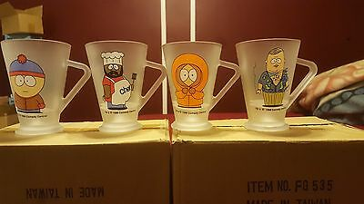Vintage Set of 4 1997 South Park latte Glasses