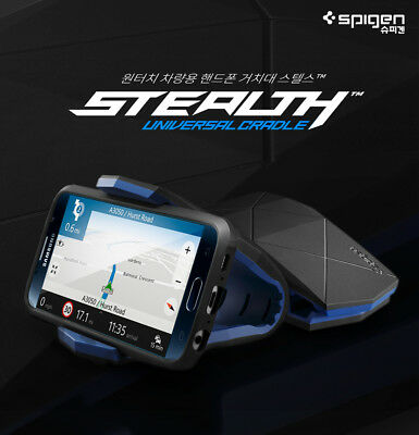 new concept bba19 6a70e SPIGEN KUEL S40 Stealth Cradle Gel Dashboard Car Mount Holder For ALL  SmartPhone