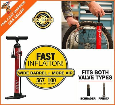 Hand Air Floor Pump Auto Tire Portable Bike Bicycle High PSI Inflator Manual NEW