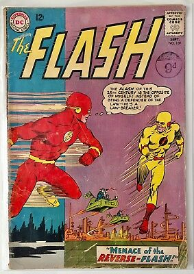 The Flash #139 1st app of Reverse-Flash. Grade 3.0