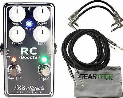 Xotic RCB-V2 RC Booster V2 Guitar Effects Pedal w/ cleaning cloth and 4 cab