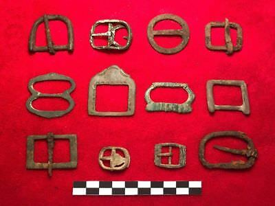 GERMANY- 12 x ROMAN IRON AGE BUCKLES - RESELL LOT !!!