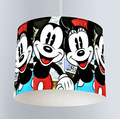 Mickey & Minnie Mouse (180) Unisex Bedroom Drum Lampshade Light Shade