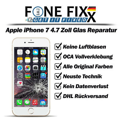 Apple iPhone 7 - 4.7 Zoll - Frontglas - Displayglas - Glas - Reparatur - TOP