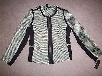 NWT Womens ALFANI long sleeve Jacket pullover coat Bright Ligts Neon Tweed 8