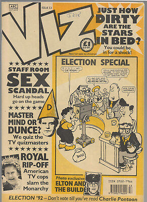 "British adult comic ""VIZ"" issue 53"