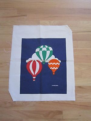 "Vintage Marushka Canvas Hot Air Balloons Print 16 x 13"" Unframed New"