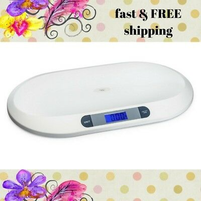 Baby or Cat Small Dog Pet Scale 3 Weighing Modes 44 lbs Capacity Tare Button LCD