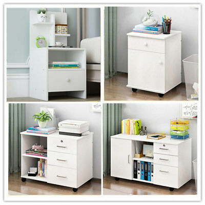 Modern Bedside Table With Drawer Nightstand Storage Bedroom Cabinet Shelf Units