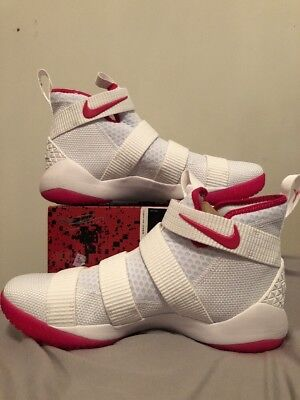 ee0522324ccc6 NIKE LEBRON SOLDIER 11 Xl Size 12.5 Shoes Kay Yow Cancer Awareness ...