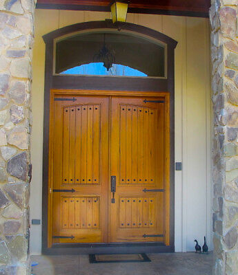 Knotty Alder Common Arch Double Entry Door  6/0X8/0