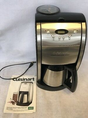 CUISINART Automatic Grind Brew Thermal Coffee Maker 10 Cup DGB