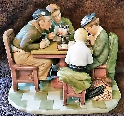 """Norman Rockwell Porcelain """"GRACE BEFORE MEALS"""" Collectible Figurine ~ EUC"""