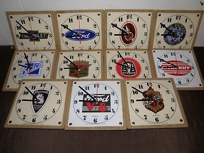 "Man Cave Clocks ""ford , Chevrolet , Olds , Pontiac , Prr , Mg , Mercury Etc,"
