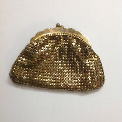Vintage Whiting Davis Gold Tone Mesh Change/Coin Purse