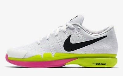 Nike Zoom Vapor Flyknit LG Mens Tennis Shoes 13 White Volt 845797 107 FEDERER