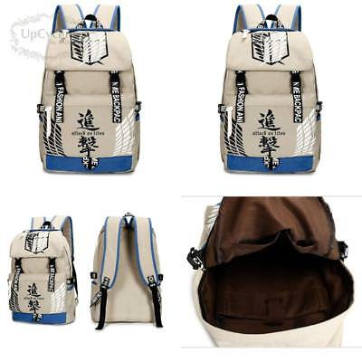 Gumstyle Attack On Titan Vintage Canvas Book Bag Laptop Backpack Casual School B