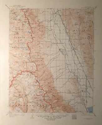 1950 reprint of 1907 USGS Topographic Map of Mt. Whitney, Calif.