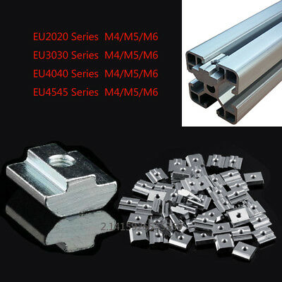 Slide-In nuts M4/M5/M6 F 2020 3030 4545 T-Slot Aluminum Extrusion,CNC 3D Printer