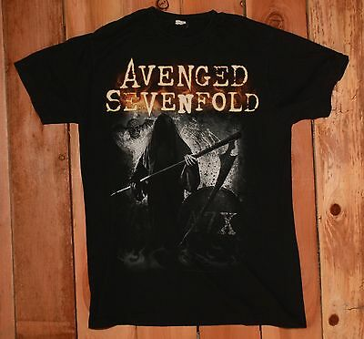 """Avenged Sevenfold """"Grim Reaper A7X"""" Graphic Tee Shirt Men's Size Large"""