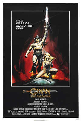 1982 CONAN THE BARBARIAN VINTAGE ACTION FILM MOVIE POSTER PRINT 36x24 9 MIL