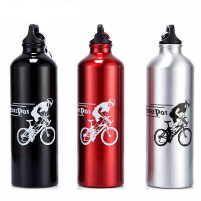 750ml Outdoor Sports Cycling Camping Bicycle Aluminum Alloy Water Bottle 4 Color