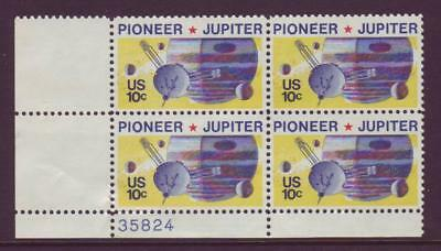 At Face Value! #1556 Space Pioneer. Lot Of (10) Mint Plate Blocks. F-Vf Nh!
