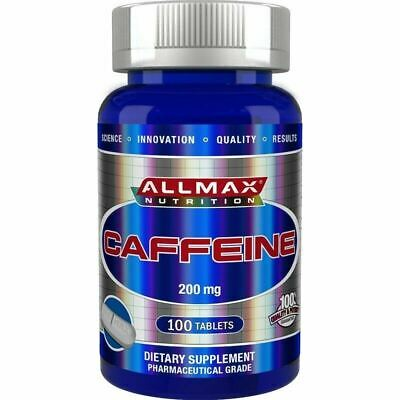 NEW ALLMAX Nutrition Pure Caffeine 200mg x 100 Tablets Pills ENERGY PRE WORKOUT