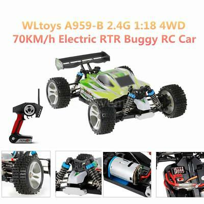 WLtoys A959-B 2.4G 1/18 Scale 4WD 70KM/h High Speed Electric RTR Off-road S5S1