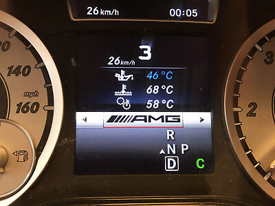 MERCEDES AMG-style cluster menu 10x activations module workshop version