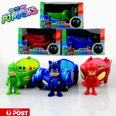 2017 PJ Masks Toy Car Action Figure Catboy Owlette Gekko Glider Mobile Toys AU
