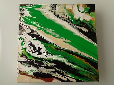 "Peinture abstraite - abstract painting - original - signé - ""Ph R"" 30x30 cm"