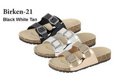 51e26bd1b08 NEW WOMEN S STUDDED 2 Buckles Cork Footbed Sandals Shoes -  12.99 ...