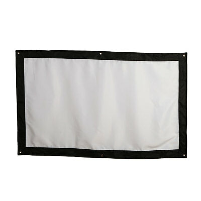 Durable Projector Curtain Projection Screen Bar Office Outdoor Foldable