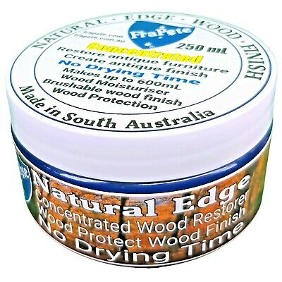 FraPete True Edge Natural Wood Finish Carnauba Beeswax No Drying Time 230 Grams