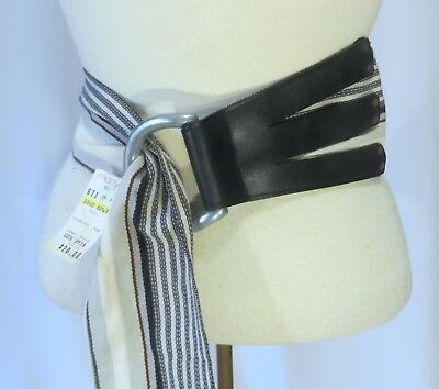 Vintage 80s Leather Belt w Buckle NWT