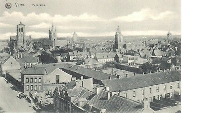 carte postale - Ypres - leper - CPA - Panorama